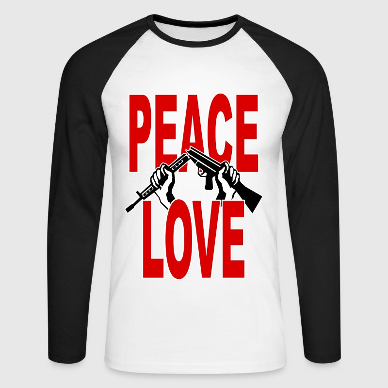 peace symbol 3 Long sleeve shirts - Men's Long Sleeve Baseball T-Shirt