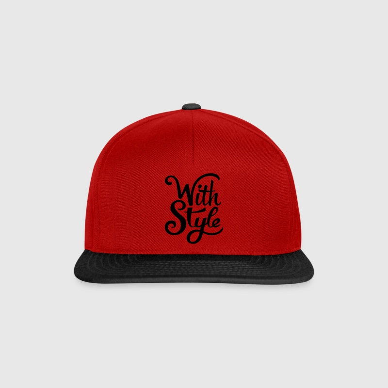 With Style! Cool & Trendy Typography Design  Caps & Hats - Snapback Cap