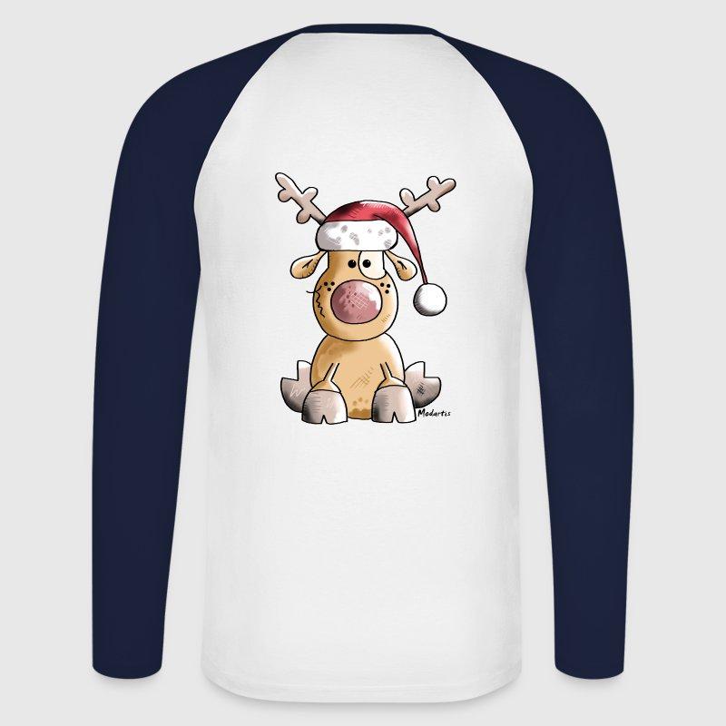 lustiges rentier weihnachten langarm shirt spreadshirt. Black Bedroom Furniture Sets. Home Design Ideas