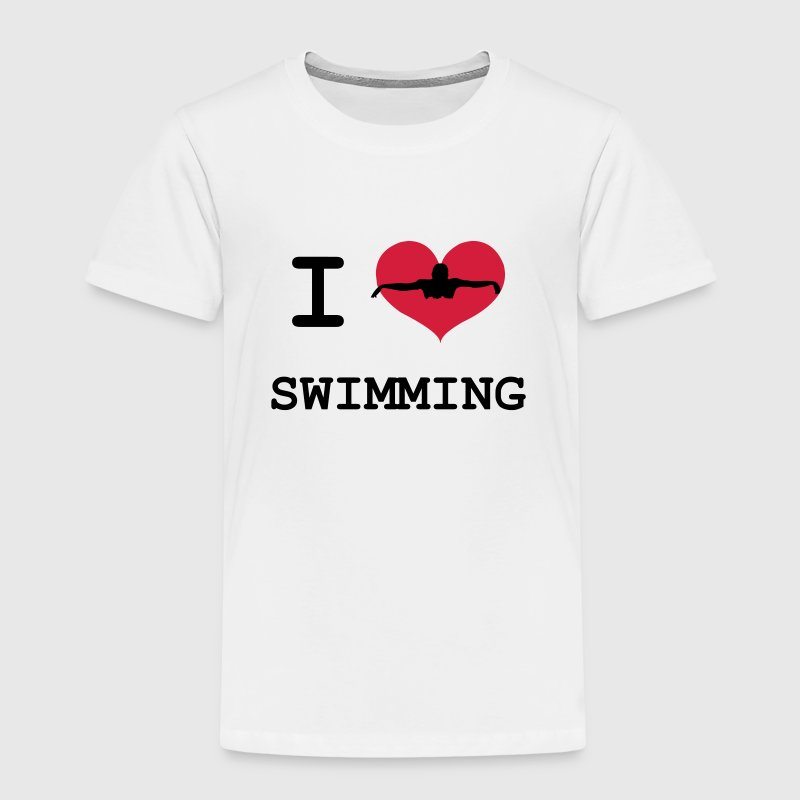 I Love Swimming Shirts - Kids' Premium T-Shirt