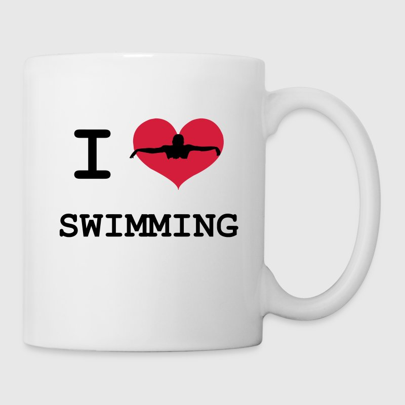 I Love Swimming Bottles & Mugs - Mug