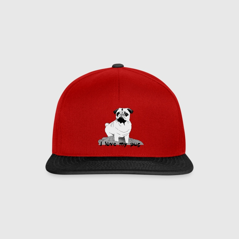 I love my pug ! Caps & Hats - Snapback Cap