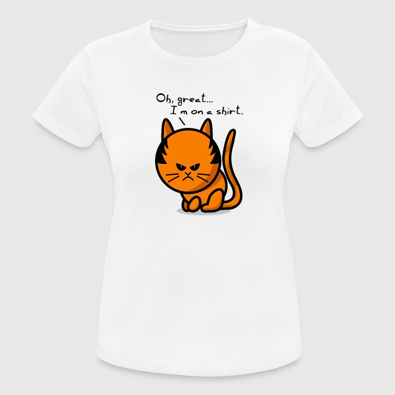 cat grumpy cat on shirt T-Shirts - Women's Breathable T-Shirt