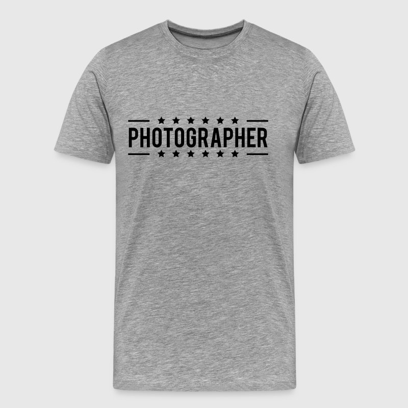 Text Logo Photographer Star T-Shirts - Men's Premium T-Shirt