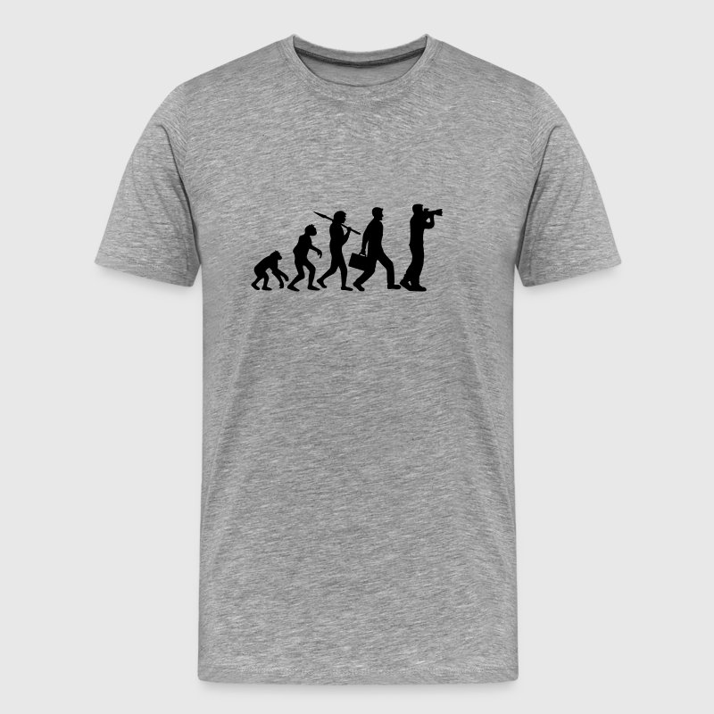 Photographer Camera Evolution T-Shirts - Men's Premium T-Shirt
