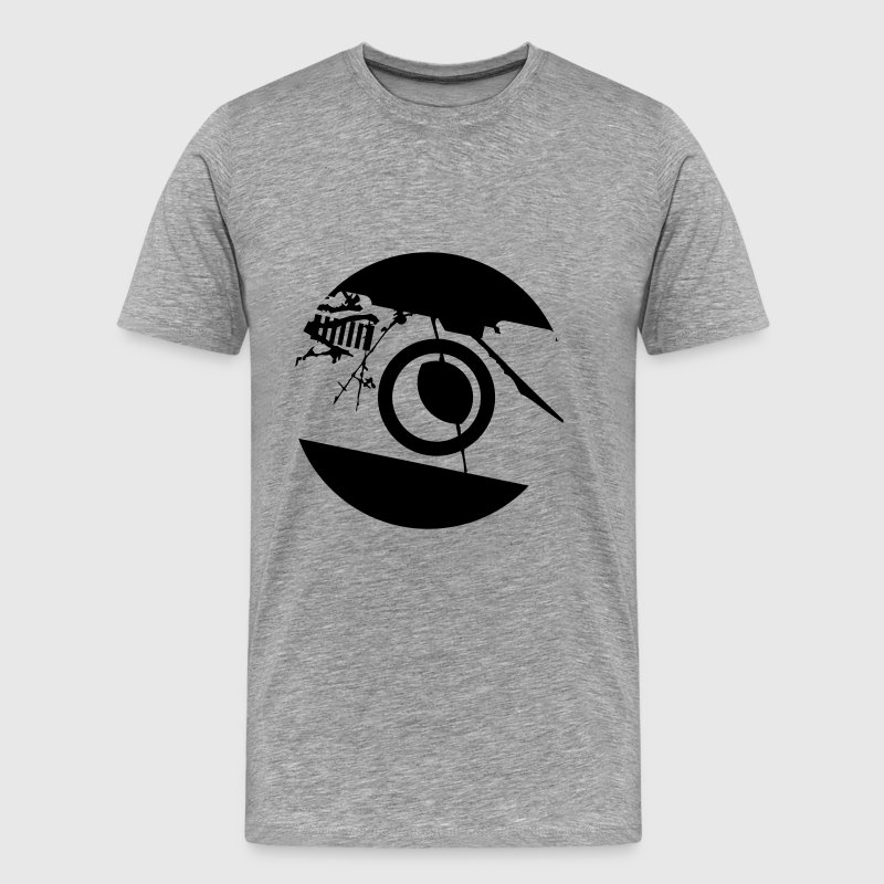 Camera Round Circle Logo T-Shirts - Men's Premium T-Shirt