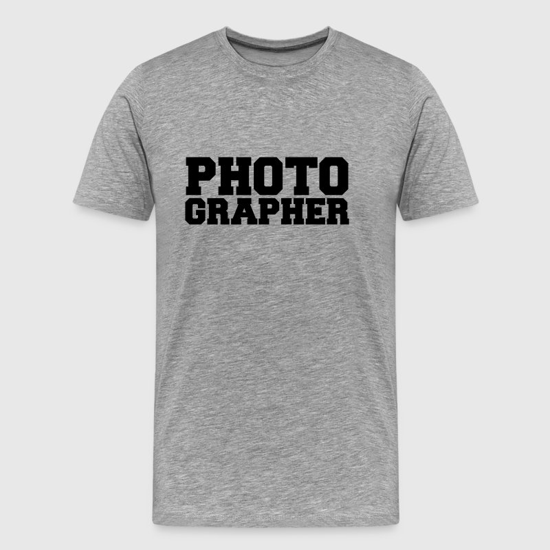 Photographer Cool Text Design T-Shirts - Men's Premium T-Shirt