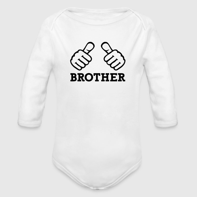 Brother Pullover & Hoodies - Baby Bio-Langarm-Body