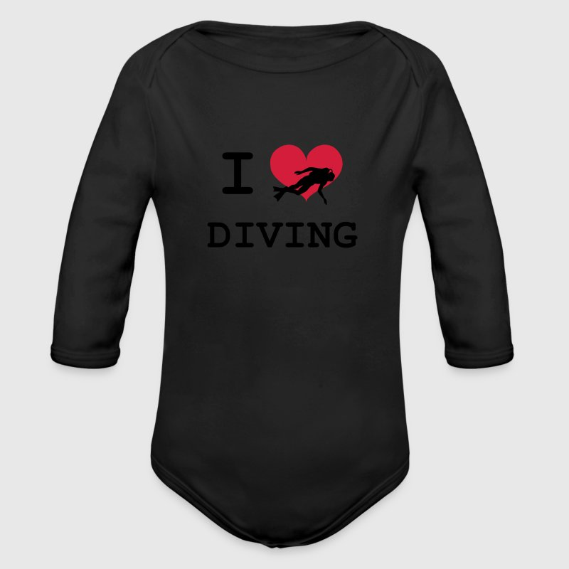 I Love Diving Hoodies - Organic Longsleeve Baby Bodysuit