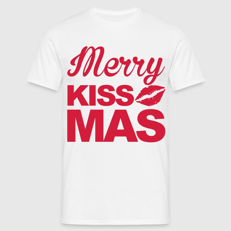 Merry Kissmas T-shirts - T-shirt herr