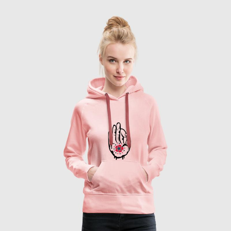 The Hand of a Buddha Hoodies & Sweatshirts - Women's Premium Hoodie