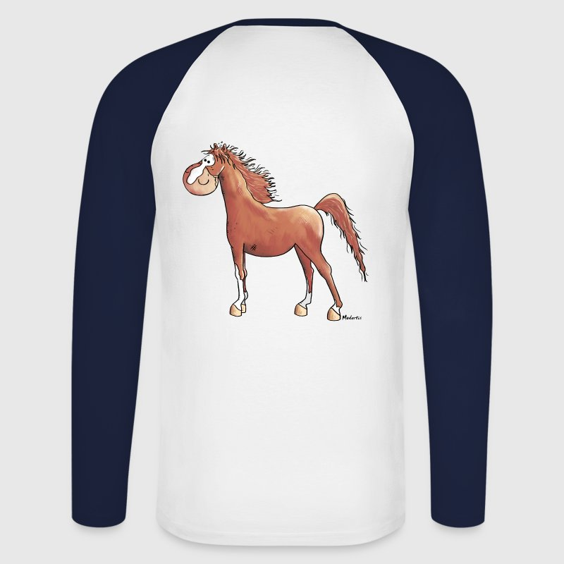 Funny Arabian Horse - Horses Long sleeve shirts - Men's Long Sleeve Baseball T-Shirt
