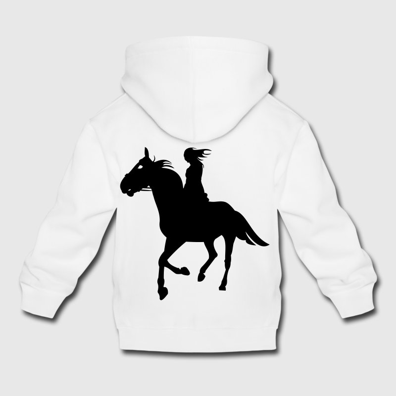 Chevaux,cheval,équitation,poney,cow-boy,trot,galop Sweats - Pull à capuche Premium Enfant