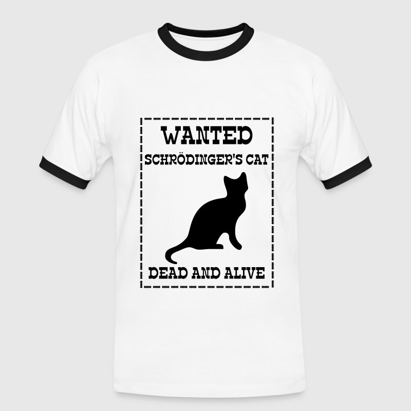 Wanted Schrödinger's Cat - Dead And Alive T-shirts - Herre kontrast-T-shirt