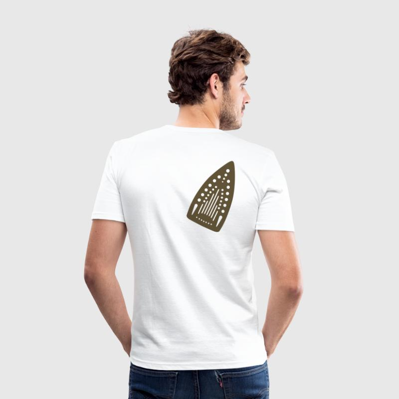 White Iron scorch-mark  Men's Tees - Men's Slim Fit T-Shirt