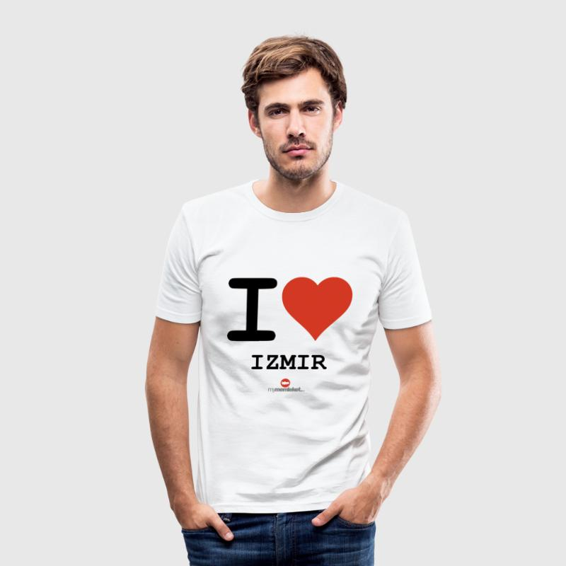 Weiß I love Izmir 35 T-Shirts - Männer Slim Fit T-Shirt