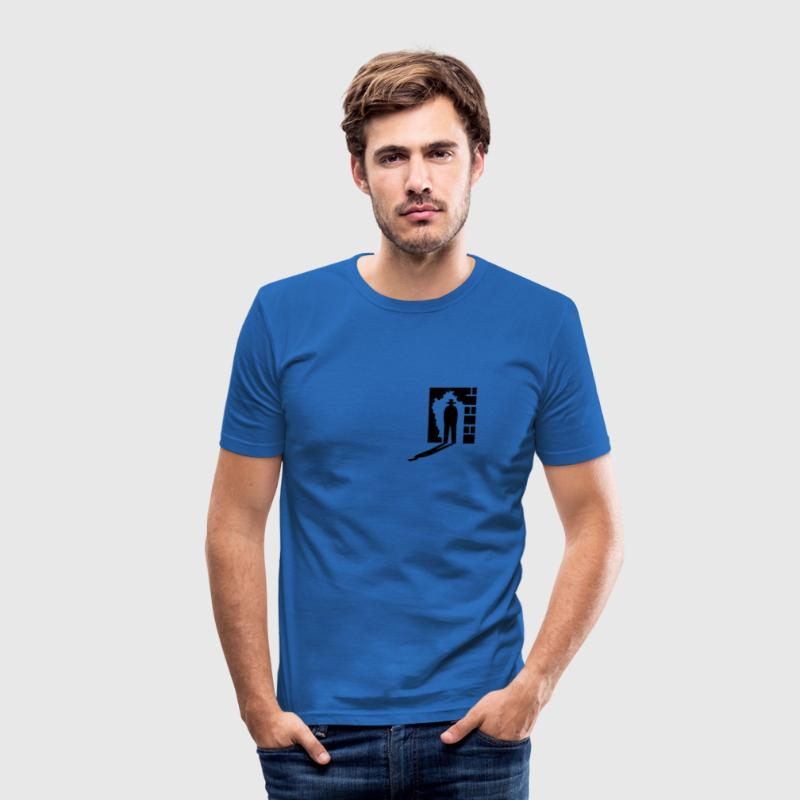 Kongeblå skygge mand / shadow man (1c) T-shirts - Herre Slim Fit T-Shirt