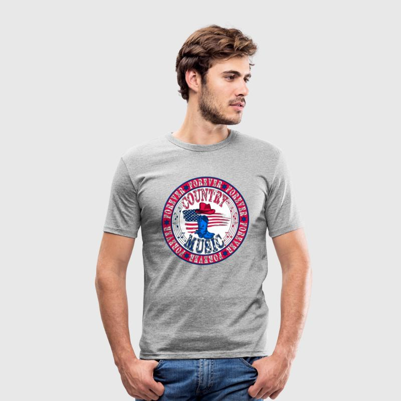 forever country music T-Shirts - Men's Slim Fit T-Shirt