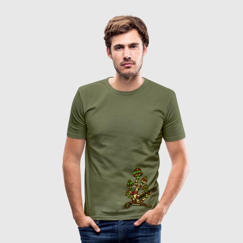 Magic mushrooms, psychedelische Pilze, Wunderland T-Shirts - Men's Slim Fit T-Shirt