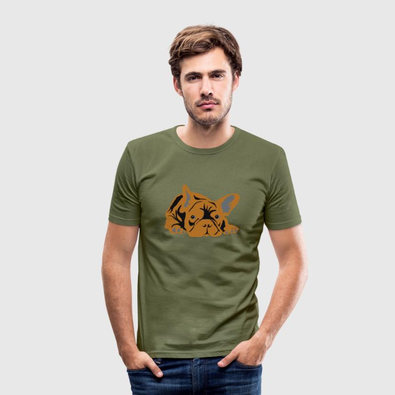Fransk bulldog T-shirts - Herre Slim Fit T-Shirt