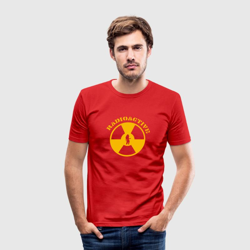 Wine Radioactive Girl T-Shirts - Men's Slim Fit T-Shirt