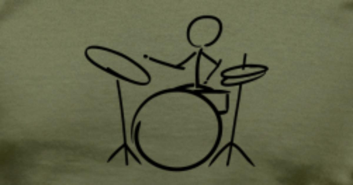 Strich m nnchen drummer t shirt spreadshirt for One color t shirt design inspiration