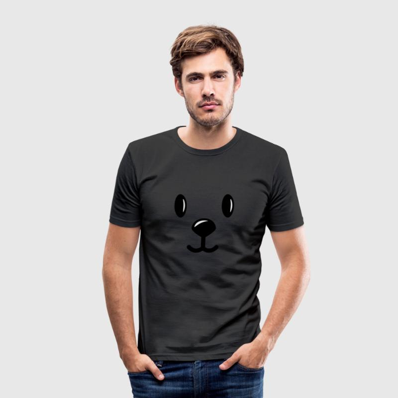 Egg yellow teddy bear costume smiley face  Men's T-Shirts - Men's Slim Fit T-Shirt