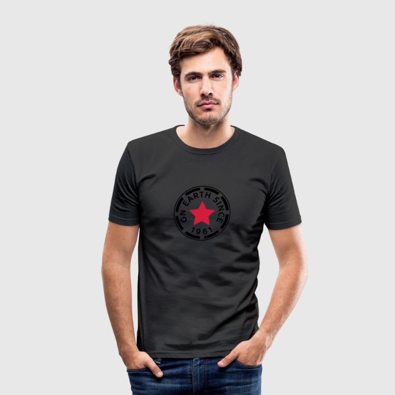 on earth since 1961 T-Shirts - Men's Slim Fit T-Shirt