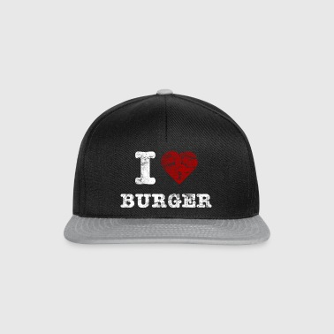 i love burger vintage light T-Shirts - Snapback Cap