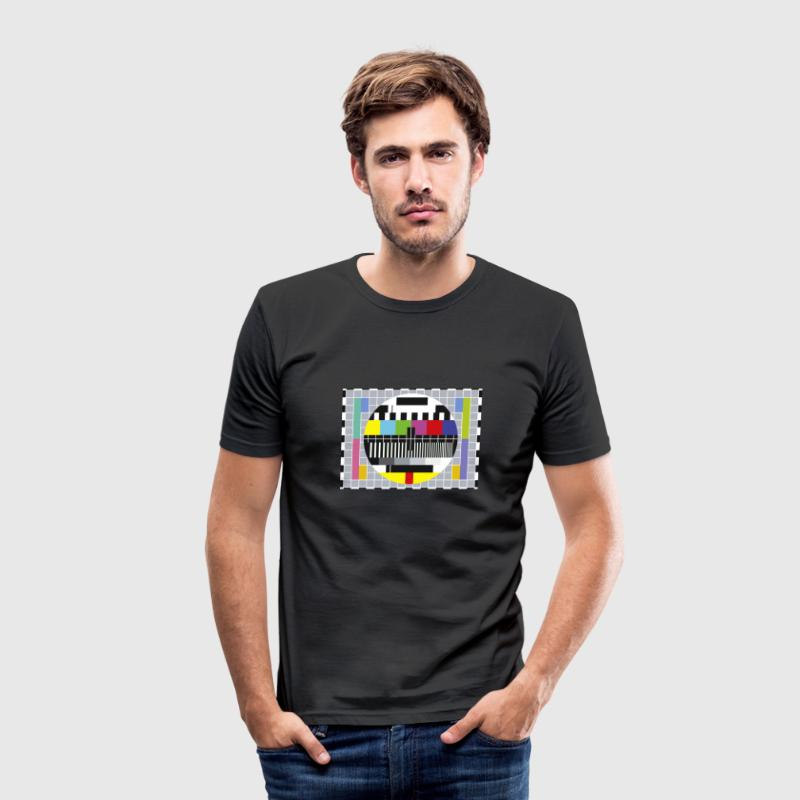 Zwart Testbeeld T-shirts - slim fit T-shirt