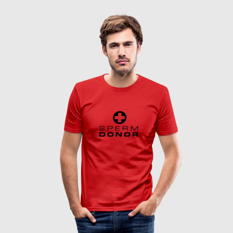 Spermadonator - Slim Fit T-shirt herr