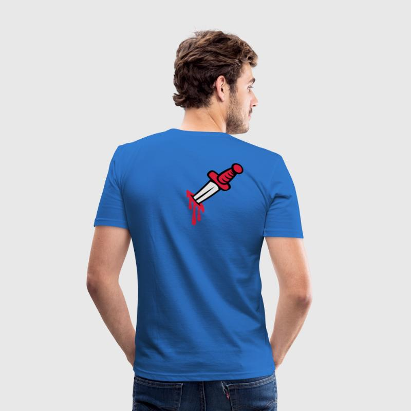 Royal blue Knife in you back Men's T-Shirts - Men's Slim Fit T-Shirt