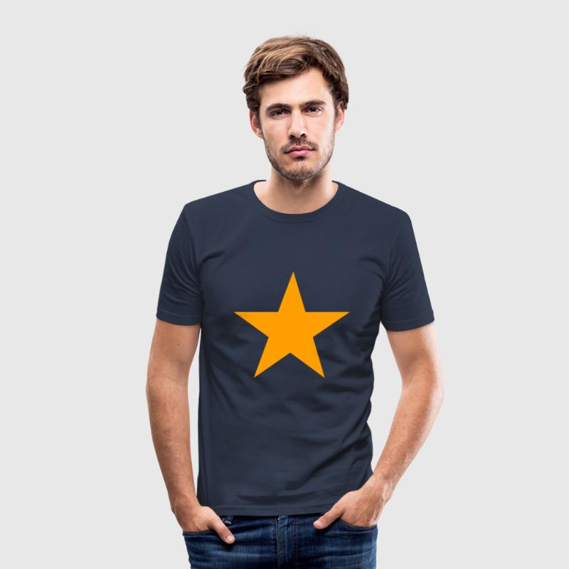 Gele ster - slim fit T-shirt