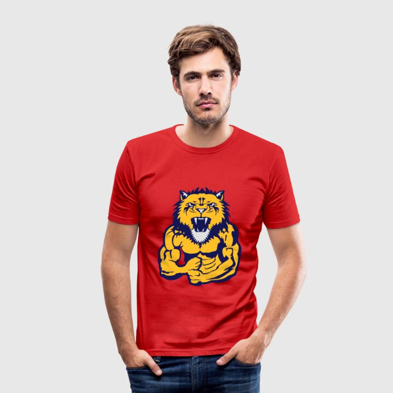 lion corps bodybuilding musculation Tee shirts - Tee shirt près du corps Homme