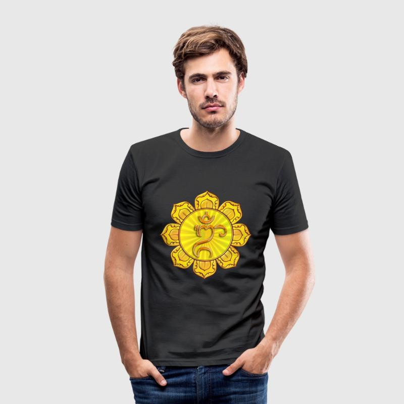 BALI Om Lotus Symbol - Men's Slim Fit T-Shirt