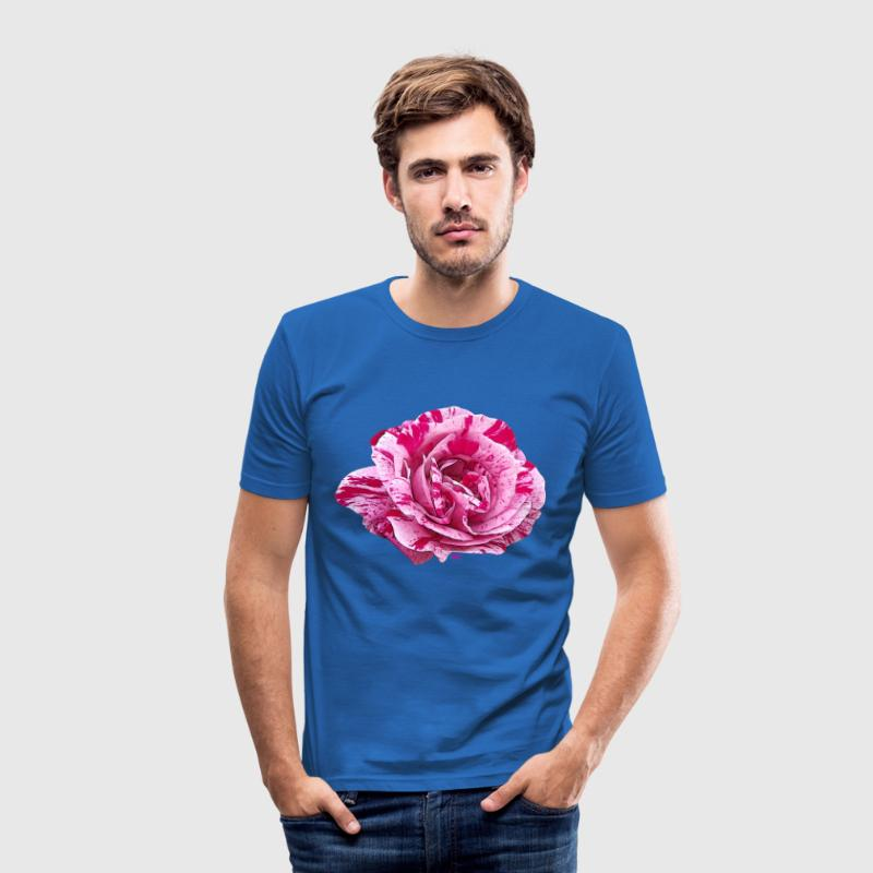 Pink striped rose T-Shirts - Men's Slim Fit T-Shirt