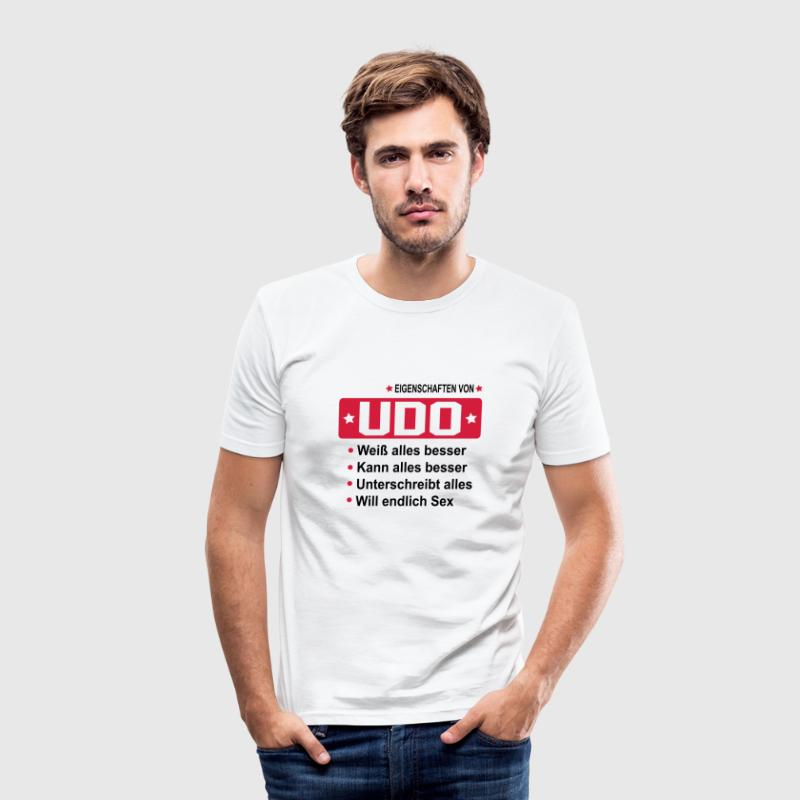 udo T-Shirts - Männer Slim Fit T-Shirt
