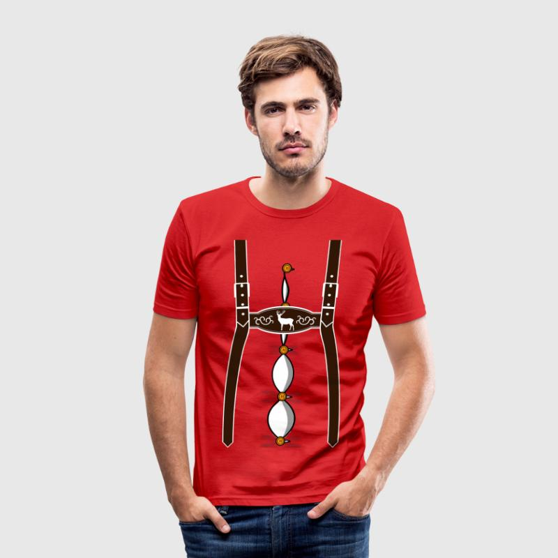 Oktoberfest suspenders Munich, Bavaria T-Shirts - Men's Slim Fit T-Shirt