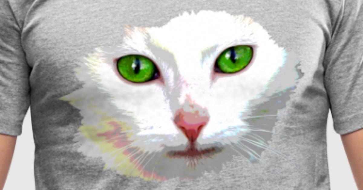 white cat wei e katze t shirt spreadshirt. Black Bedroom Furniture Sets. Home Design Ideas