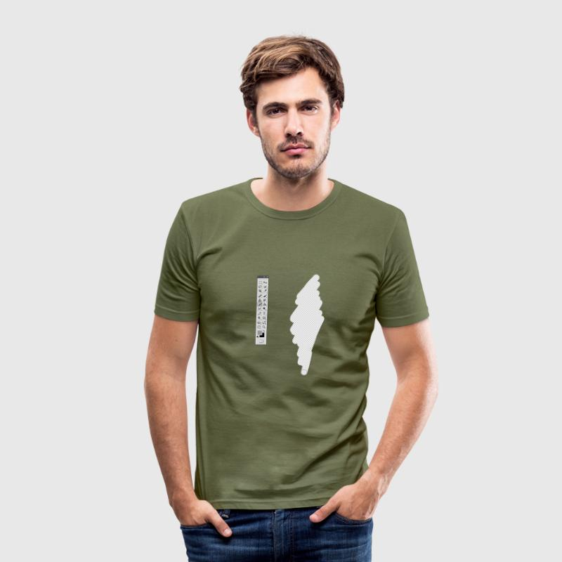 Graphic Designer (fake erase) T-shirts - Slim Fit T-shirt herr