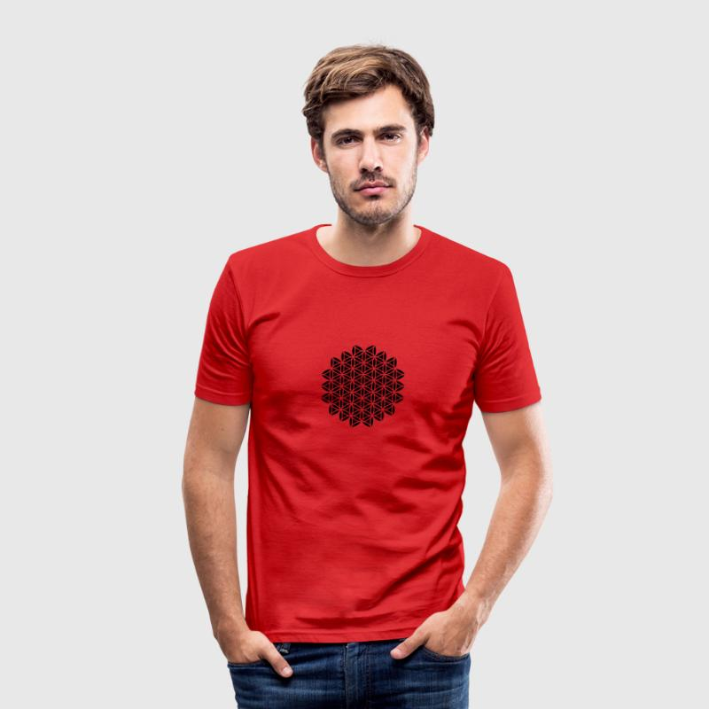 VECTOR , Flower of Life, Sacred Geometry, Protection Symbol, Harmony, Balance T-Shirts - Men's Slim Fit T-Shirt