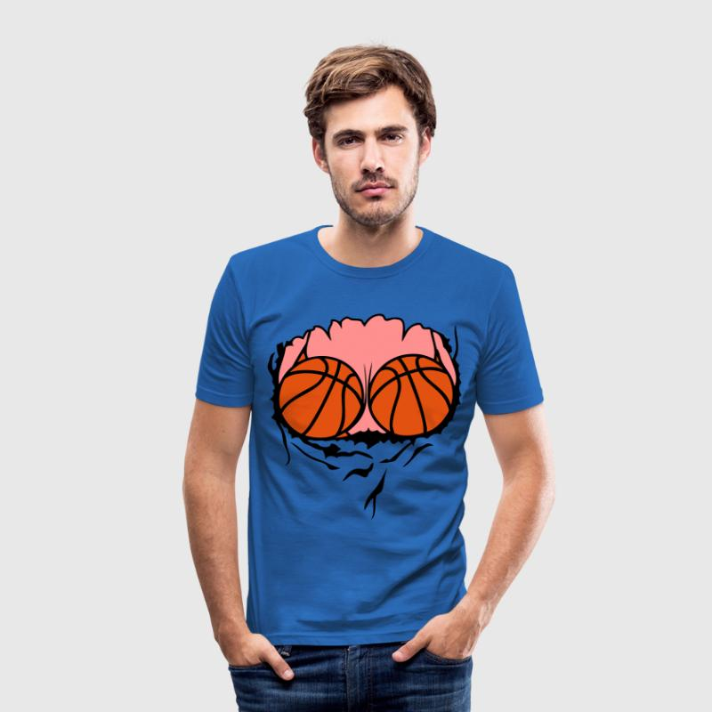 basketball jersey balloon breasts tits b - Men's Slim Fit T-Shirt