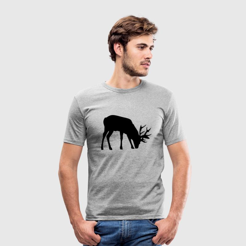 cerf deer silhouette ombre shadow3 Tee shirts - Tee shirt près du corps Homme