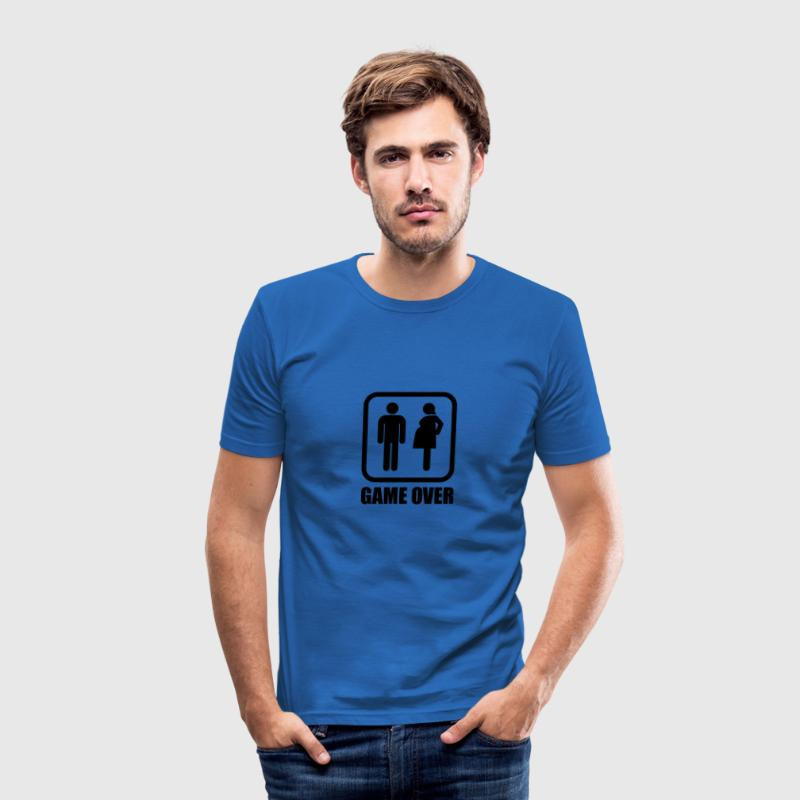 Game over - schwanger T-Shirts - Männer Slim Fit T-Shirt