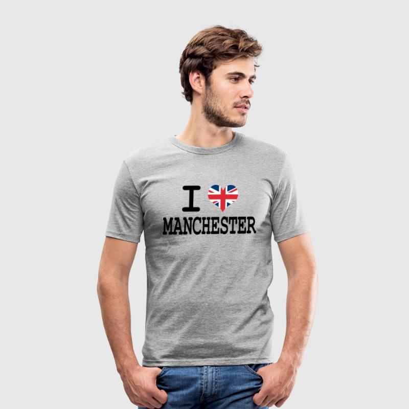 i love Manchester T-Shirts - Men's Slim Fit T-Shirt