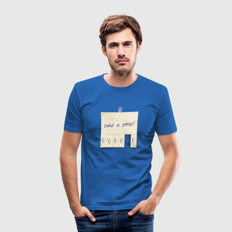 take a smile ! T-Shirts - Men's Slim Fit T-Shirt