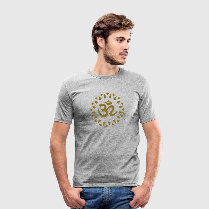 OM Sign Sanskrit Mantra Symbol Yoga T-Shirts - Men's Slim Fit T-Shirt