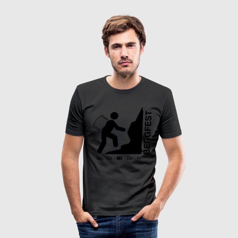 Bergfest-Shirt - Männer Slim Fit T-Shirt