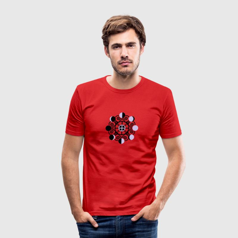 Moon Phases & Earth - Symbol change is stability T-shirts - slim fit T-shirt