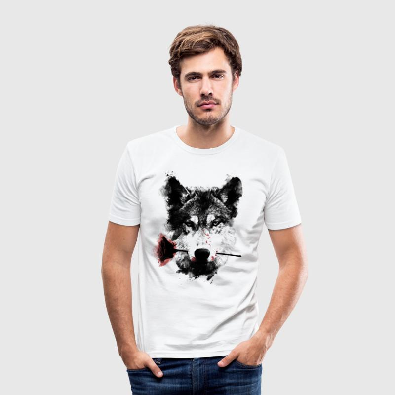 Wolf Lover T-shirts - Slim Fit T-shirt herr